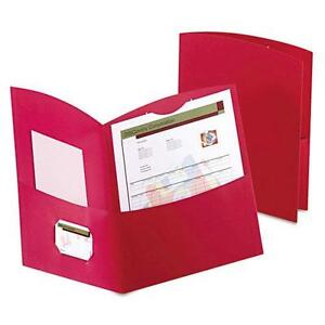 Oxford 5062558 Contour Two pocket Folder Recycled Paper 100 sheet Capacity Re