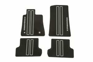 2016 2019 Camaro Front Rear Black Gm Premium All Weather Floor Mats 23412245