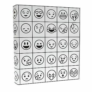 Aurora Coloring 3 ring Binder 1 inch 11 X 8 5 Emoji Design Pack Of 3 Binder