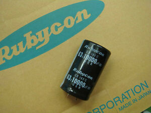 6pcs Rubycon 10000uf 63v Snap in Electrolytic Capacitor