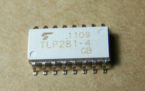 10p Photocoupler photo transistor Ic Tlp281 Tlp281 4