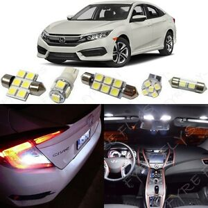 White Led Interior Lights Reverse Package 2016 2018 2019 2020 Honda Civic Tool