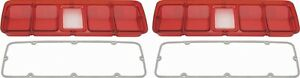 71 Road Runner Gtx Tail Lamp Lenses Without Black Trim