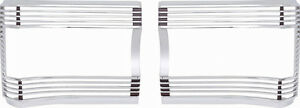 67 Gtx Satellite Tail Lamp Bezels With Silver Inners