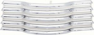 1947 53 Chevy Truck Chrome Grille With White Brackets
