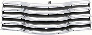 47 53 Chevy Truck Chrome Grille With Black Brackets