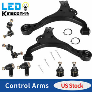 8x Front Lower Control Arm Ball Joint Sway Bar Rod End Kit For 01 05 Honda Civic
