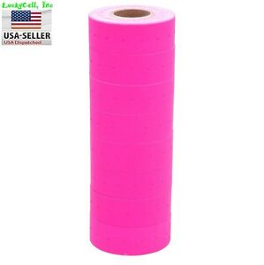 10 Rolls 5000 Tags Pink Labels For Motex Mx 5500 L5500 Mx989 Price Gun