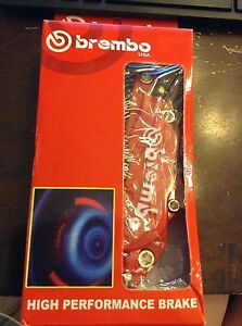 Brembo High Performance Brake Covers Red New X 2 Rear Embossed Lettering 9