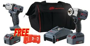 Ingersoll Rand w5152 k12 1 2 Cordless Impact Wrench W 2 Batteries