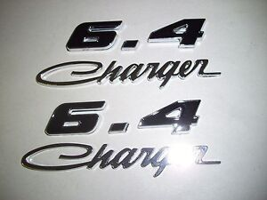 Dodge Charger 6 4l 6 4 V8 Charger Script Fender Hood Scoop Trunk Emblems Black