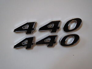 Dodge Plymouth 440 Engine Id Fender Hood Scoop Quarter Trunk Emblems Black