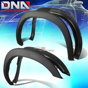 For 94 02 Dodge Ram Paintable Black Abs 4pcs Wheel Fender Flares Factory Style