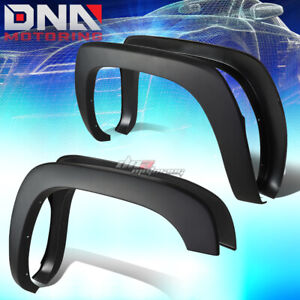 For 99 07 Silverado Sierra Paintable Black 4pc Wheel Fender Flares Factory Style
