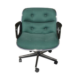 Mid Century Charles Pollock Office Chair Authentic Knoll 100 Available