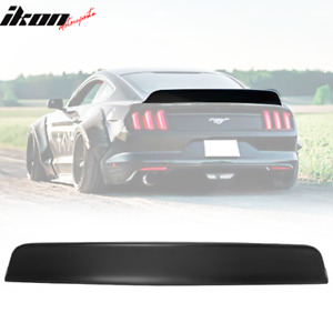 Fits 15 19 Ford Mustang Coupe Ikon Style Matte Black Duckbill Trunk Spoiler Pp
