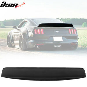 Fits 15 20 Ford Mustang Coupe Ikon Style Matte Black Duckbill Trunk Spoiler Pp