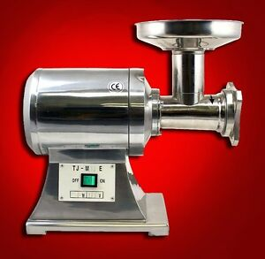 New True 1hp Commercial Stainless Steel Compact Size Electric Meat Grinder 12