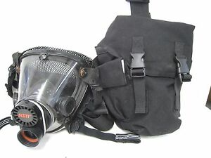 Scott Av 2000 Facepiece Scba Firefighter Mask Large W Blackhawk Carry Bag