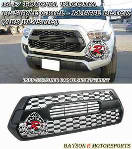 Tp Style Front Grille Insert Abs Plastic Matte Black Fits 16 19 Toyota Tacoma