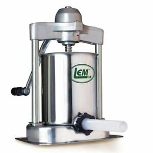 New Lem 15 Pound Stainless Steel Vertical Sausage Stuffer 1607