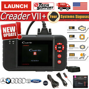 Launch X431 Creader Vii Obd2 Car Diagnostic Scanner Transmission Abs Srs Crp123