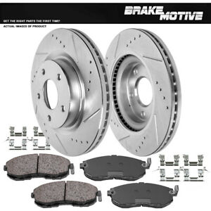 Front Rotors Ceramic Pads For 2007 2008 2009 2010 2011 2012 2013 Nissan Altima