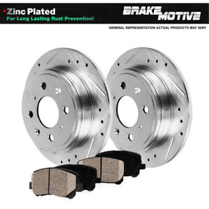 Rear Brake Rotors And Ceramic Pads For 2002 2003 2004 Ford Focus Svt