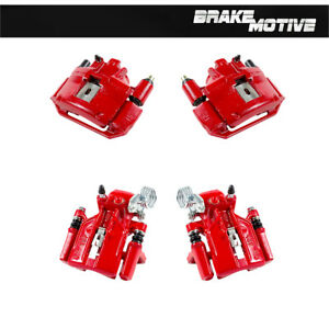 Front And Rear Red Brake Calipers 1994 1995 1996 1997 1998 Ford Mustang Base Gt