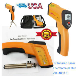 Non contact Digital Infrared Thermometer Ir Temperature Gun Pyrometer1600 2912