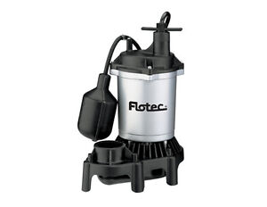Flotec Submersible Thermoplastic Sump Pump 1 2 Hp fpzs50t