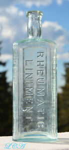 Dr Kennedy S Rheumatic Liniment Scarce Embossed Antique Bottle