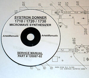 Systron Donner 1710 1720 1730 Microwave Synthesizer Service Manual