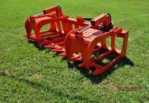 80 Mtl Attachment Xtreme Root Grapple Bucket Skid Steer Bobcat kubota ship 179