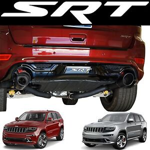 White Srt Tow Hitch Cover Vinyl Decal For 2014 2017 Jeep Grand Cherokee New