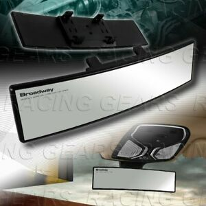 Universal Clear Broadway 270mm Wide Convex Interior Clip On Rear View Mirror