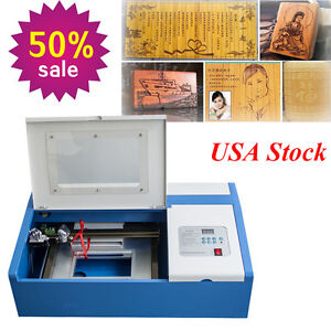 Co2 Safety Laser Engraving Cutting Machine Engraver Cutter Usb Port High Precise