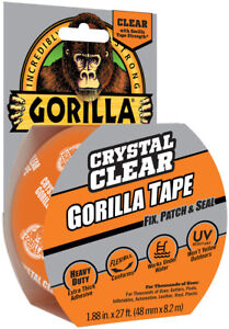 Gorilla Crystal Clear Duct Tape 1 88 X 9 Yd Clear pack Of 1