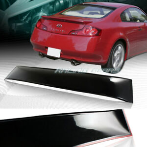 Black Abs Rear Window Roof Visor Spoiler Wing Fit 03 07 Infiniti G35 Coupe 2 Dr