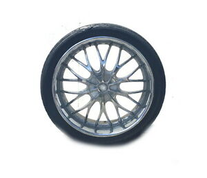 Ba Motorsports Chrome Rims With Tires 24 X 10 5 Lugs 4 local Pick Up Only
