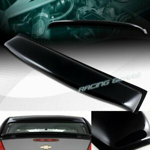 Black Abs Plastic Rear Window Roof Visor Spoiler Wing Fit 05 10 Chevy Cobalt 4dr