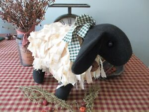 Primitive Handcrafted Grubby Sheep Shelf Sitter Ornies Country Farmhouse