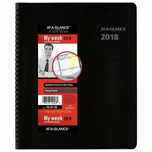 At a glance 76 01 05 Quicknotes Weekly monthly Appointment Book 8 X 9 760105