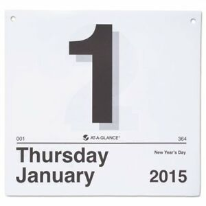 At a glance K4 50 today Is Daily Wall Calendar Refill 8 1 2 X 8 White 2018