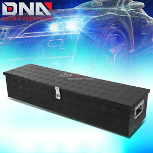 49 x 13 x 10 black Aluminum Pickup Truck Trunk Bed Camper Tool Box Storage lock