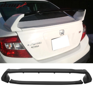 Fits 12 15 Honda Civic 4dr Sedan Mugen Style Abs Trunk Spoiler Abs