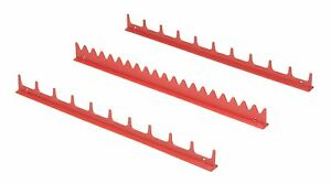 Ernst 6010 3pc Screwdriver Rail Organizer holds Up To 20 Screwdrivers Red