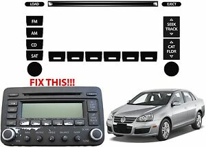 Replacement Radio Button Stickers For 2005 2010 Vw Jetta Passat Golf New Usa