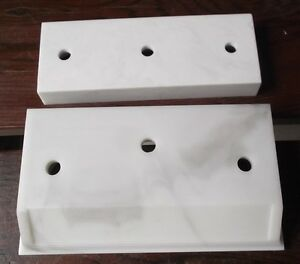 10 Sets Trophy Parts For 2 Post Style White 6 Size By Pdu Base And Lid