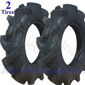 Two 4 00x10 400x10 4 00 10 400 10 Tiller Equipment R 1 Lug Compact Tractor Tires